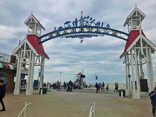 Boardwalk entrance at Ocean City, Maryland