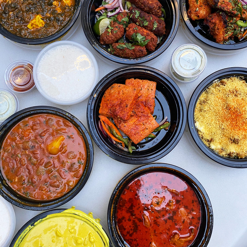 Indian takeout food in Jackson Heights, Queens
