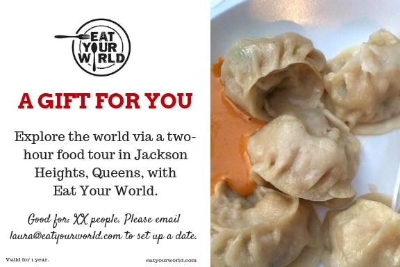 Queens food tour gift certificate