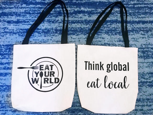 Eat Your World Tote Bag