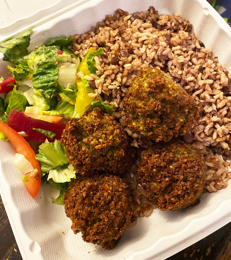 El Toum falafel from Jackson Heights