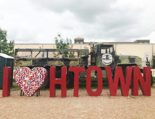 """I heart HTown sign"" photographed in Houston, Texas"
