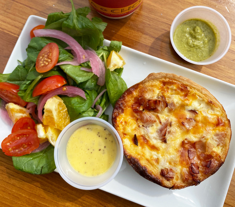 Quiche and salad from Parva in Jackson Heights