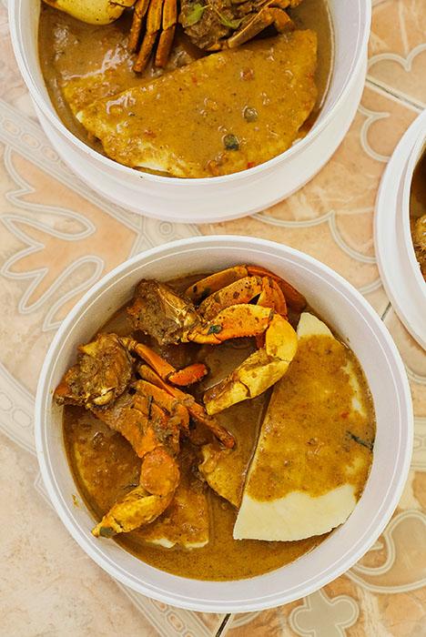Crab n dumpling, a quintessential Trinidad and Tobago dish