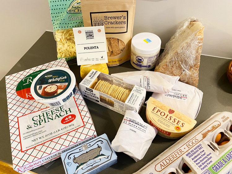 Takeout from a cheese shop in Jackson Heights