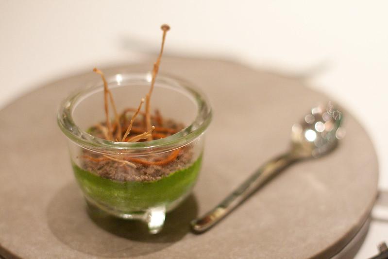 A dish from Bo Innovation in Hong Kong