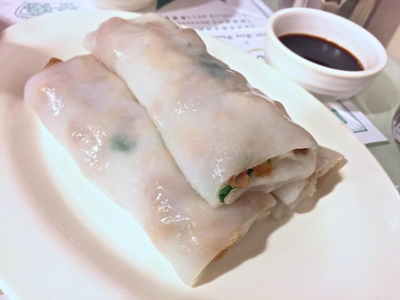 Rice rolls from Dim Dim Sum in Hong Kong
