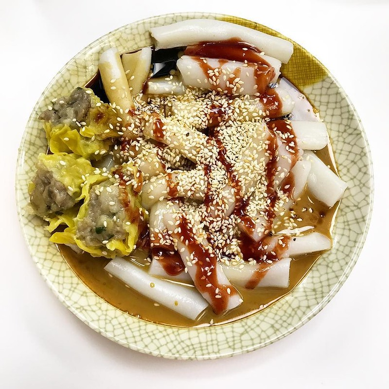 A plate of cheong fun from Hop Yik Tai in Hong Kong