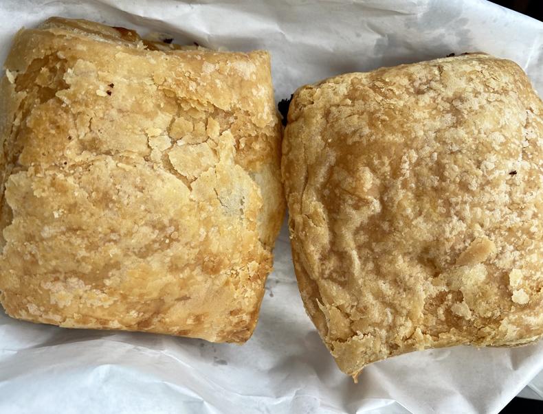 Haitian salt cod patties from Le Bon Pain bakery in Queens