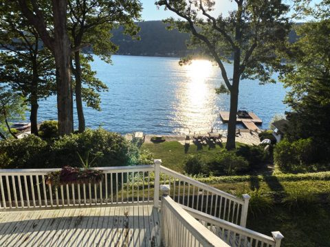 View of Greenwood Lake from a lake house