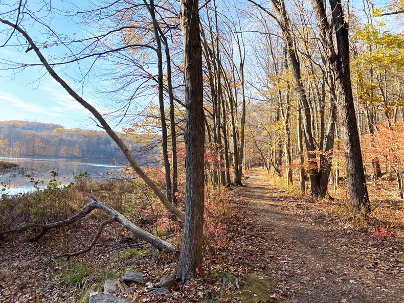 Teatown Lake Reservation in Westchester, NY, in autumn