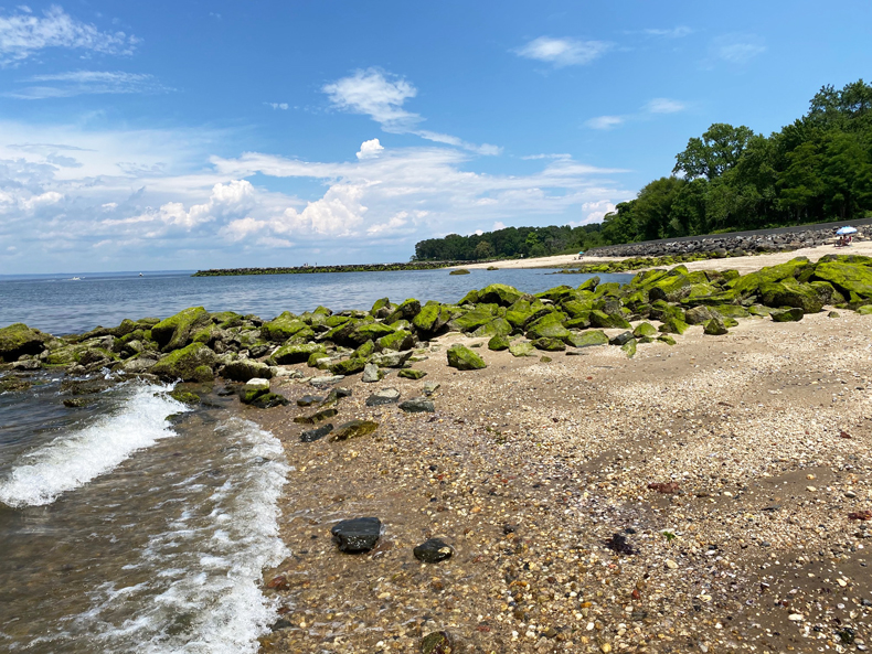 Beach view at Welwyn Preserve County Park in Long Island, NY