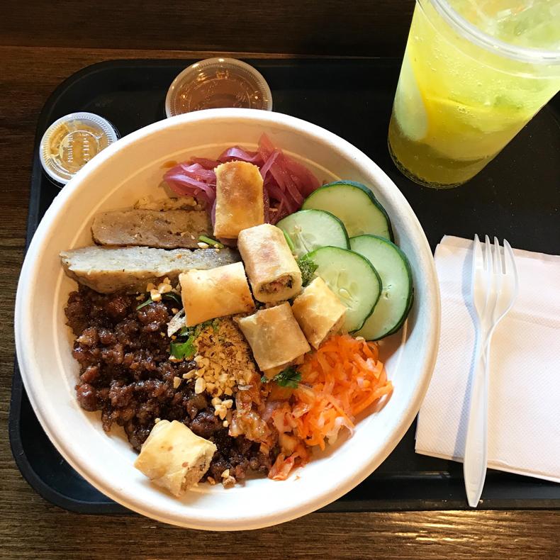 Rice bowl from JoJu in Elmhurst, Queens