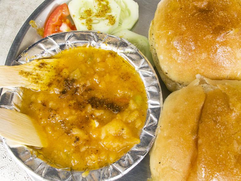Pav bhaji platter from Delhi, India