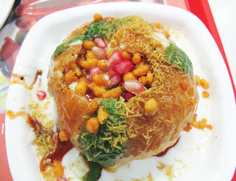 Raj kachori chaat from India