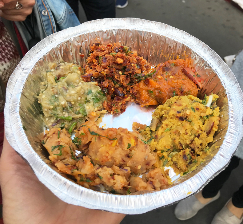 Bangladeshi bhorta from Jackson Heights, Queens