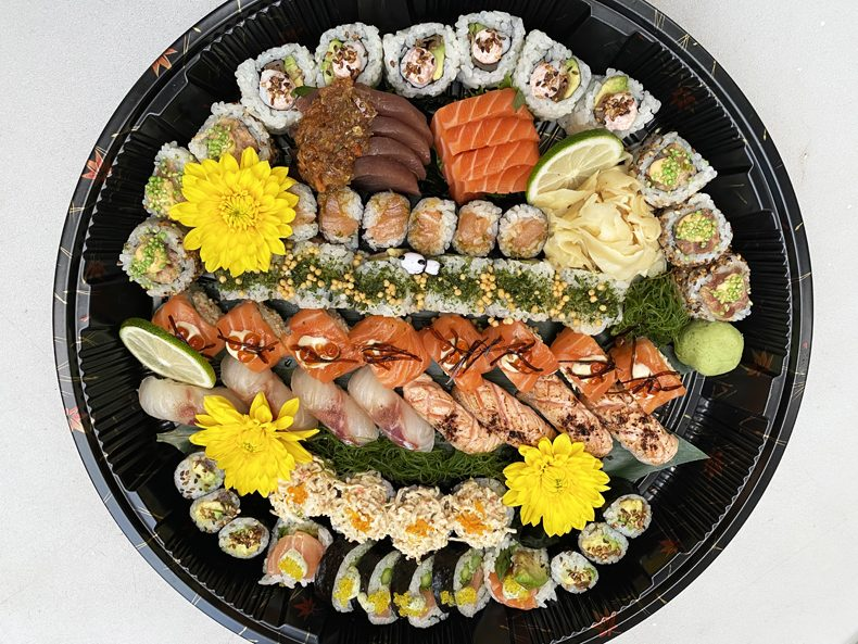 A Fiesta sushi platter from home-based chef Sushi Fella in Jackson Heights, Queens