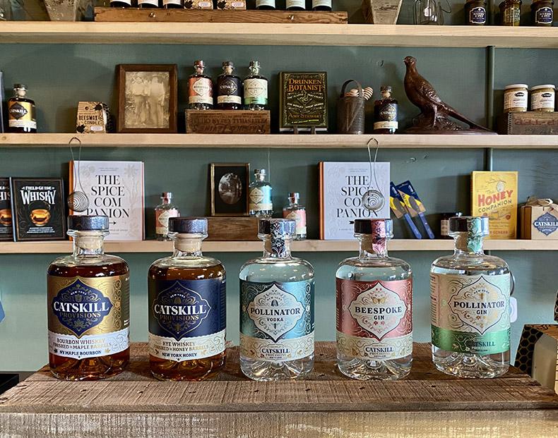 Locally distilled spirits from Catskill Provisions Distillery