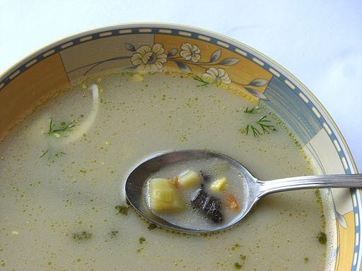 Polish mushroom soup, or zupa grzybowa