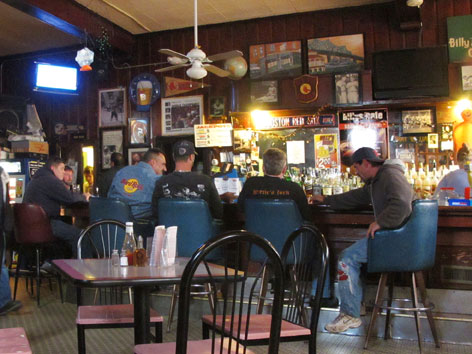Interior of Billy's Cafe in Fall River, MA