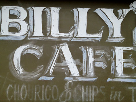 Billy's Cafe signage, Fall River, MA