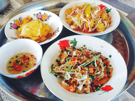 Bok lahong, or papaya salad, from Cambodia