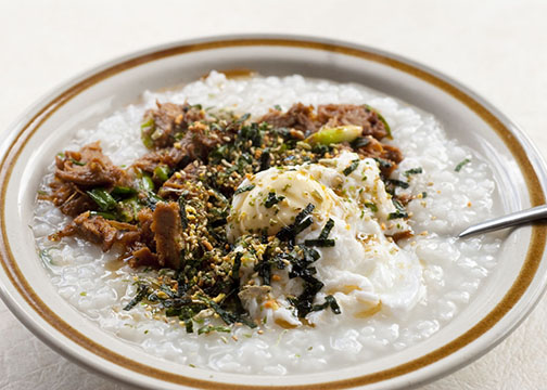 Japanese rice porridge/congee, or okayu