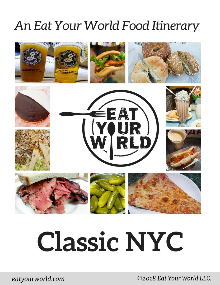 NYC Food Itinerary! NYC's best classic foods in one day, by Eat Your World