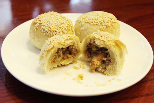 Crab shell pastry in Shanghai, a local specialty