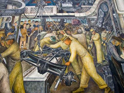 Diego Rivera mural Detroit Museum