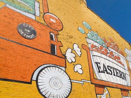 Mural at Eastern Market in Detroit