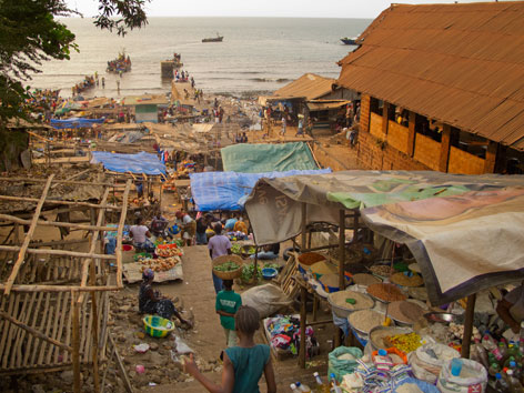 King Jimmy Market in Freetown, Sierra Leone