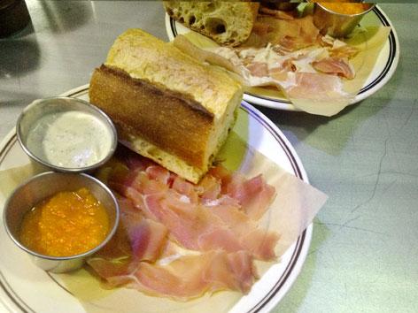 Country ham platter from Garage Bar in Louisville, Kentucky