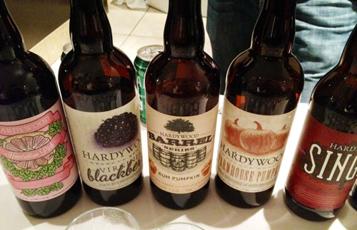 Selection of Hardywood Park craft beers, from Richmond, Virginia