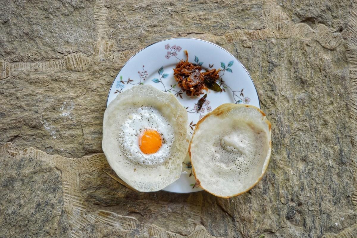 Egg hoppers and plain hoppers in Colombo, Sri Lanka