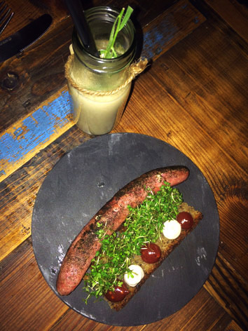 Handmade sausage from Host in Copenhagen