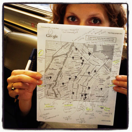 Laura with Eat Your World food map in Amsterdam