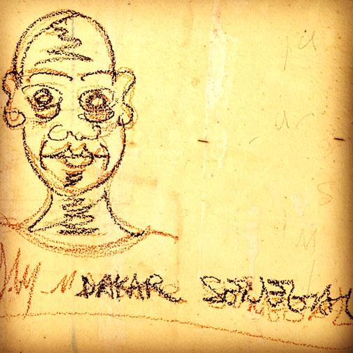 Graffiti in Dakar, Senegal.