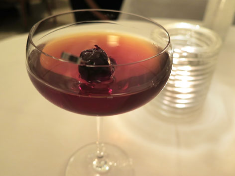Classic Manhattan from Eleven Madison Park's Manhattan cart, NYC