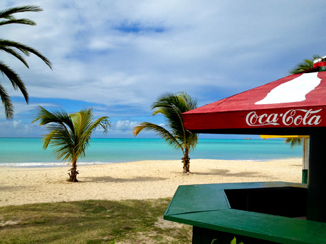Beach view in Antigua