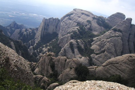 A view from Montserrat, Spain