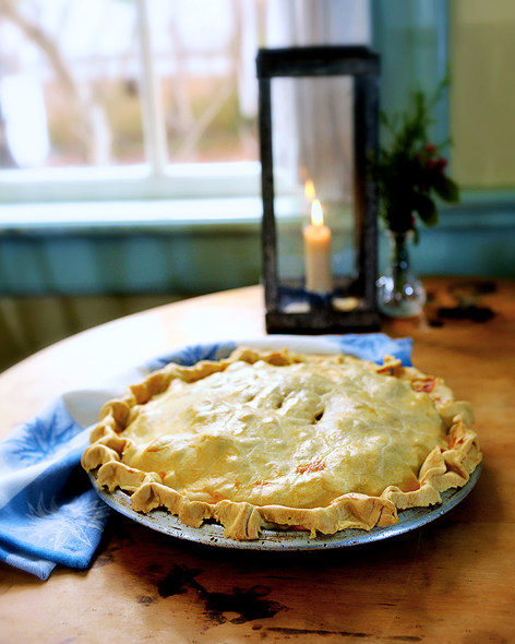 Moravian chicken pie in Winston-Salem, NC