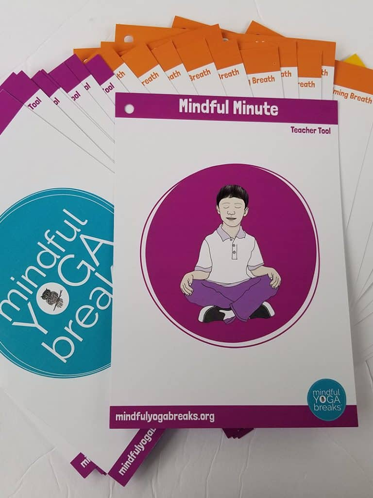 Mindful Yoga Breaks cards and breathing exercises for kids