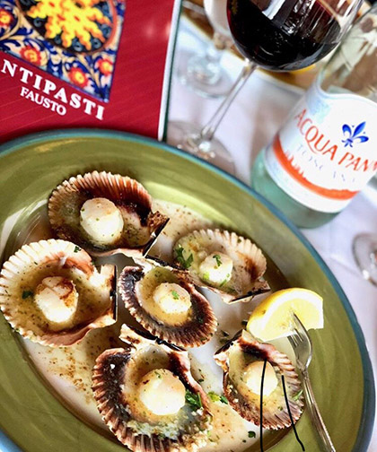 Scallops from Ristorante Antipasti in Ocean City, Maryland