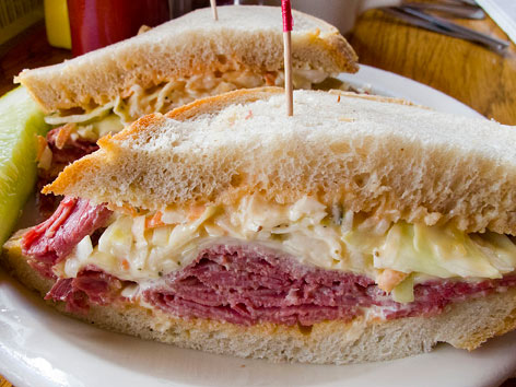 Corned beef sandwich from Russell Street in Detroit.