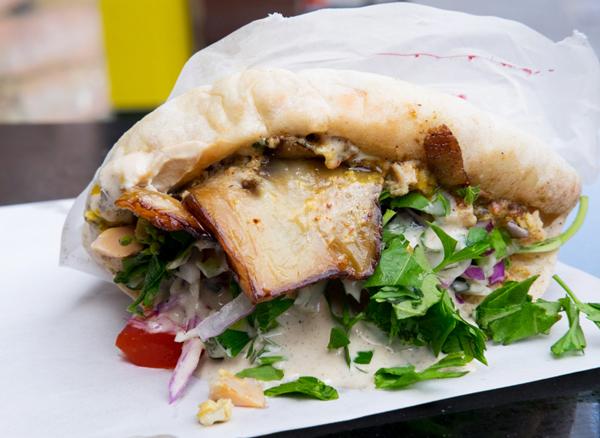 Sabich, an Israeli eggplant sandwich, from Tel Aviv