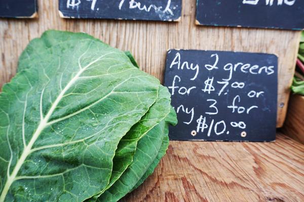 Collard greens from the Saskatoon Farmers market