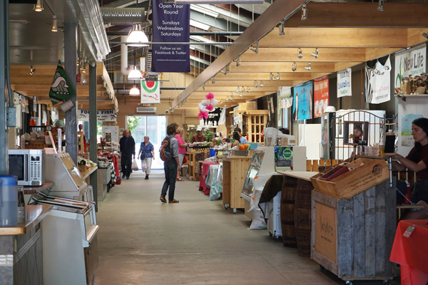 Interior of Saskatoon farmers market warehouse