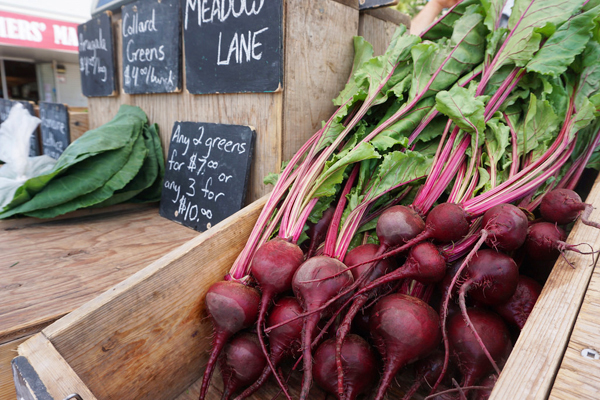 Red beets at the Saskatoon farmers market