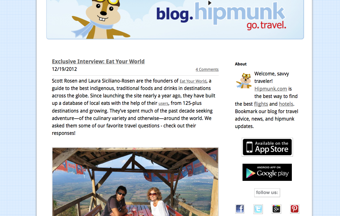 Eat Your World on Hipmunk